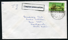 ST. KITTS-NEVIS: (17698) Ship/Tax/INSUFFICIENT POSTAGE cancel/cover