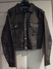 Dr. Martens Ladies Faux Leather Bolero Jacket Black Sz Large
