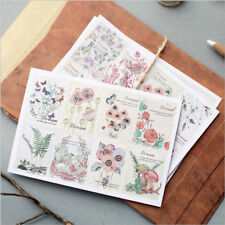 3pcs/lot Vintage Floral Notebook Diary Scrapbooking Album Stamp Stickers Gifts