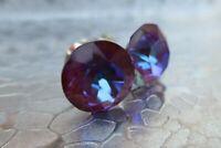 HYPOALLERGENIC  Stud Earrings  Swarovski Elements Crystal in Burgundy and Blue