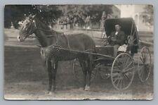Eau Claire WI Horse Carriage Man RPPC Conrad Phelps—Antique Photo 1910s