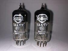 Rare Mullard (Mitcham)12AT7 ECC81 D Getter Tubes Matched pair1960 made