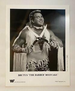 """Brutus """"The Barber"""" Beefcake ORIGINAL 1991 WWF 8X10 Promo Photograph! WWE! P-042"""