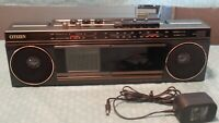 Vintage Citizen TA80-0A Analog LCD Television & Stereo Cassette Recorder