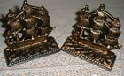 US Navy Constitution Old Ironsides Solid Cast Iron Sailing Ship Boat Bookends