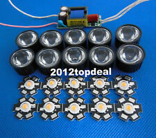 3w full spectrum led 380-840nm + 45degree lens + 6-10x3w led driver for diy