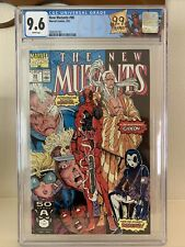 New Mutants #98 CGC 9.6! First Deadpool! White Pages!Never Pressed! Custom Label