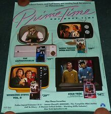 PRIME TIME ONE MORE TIME ORIGINAL 1980S ROLLED HOME VIDEO MOVIE POSTER STAR TREK