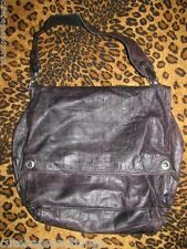 PANCALDI Black Purse Leather HANDBAG Shoulder Bag CUTE #177