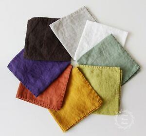 Soft Linen Napkins Table Wedding Serving Decor Cloth Set Bulk Zero Waste