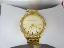 MICHAEL KORS MK3120 WATCH WOMENS LADIES WRIST GLITZ MK 3120 CUTE GOLD TONE