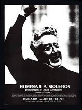 """VINTAGE PRINT AD 1975 DAVID CONSTANTINO PHOTOGRAPHY """"HOMENAJ A SIQUEIROS"""""""