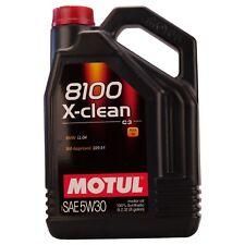 MOTUL OLIO 8100 X CLEAN  5W30 5L SINTETICO ACEA C3 API SM CF MB BMW VW MOTORE DI
