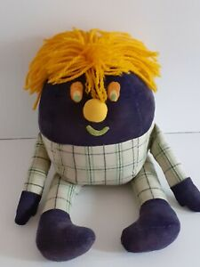 Vintage Large Soft Toy Tartan & Corduroy Humpty Dumpty From Playschool 20 inches