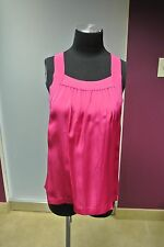 "THEORY ""KONI"" NEON PINK SLEEVELESS BLOUSE SIZE M WOMEN'S"