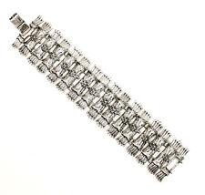 Incredible 7 inch Unique Design Silver Tone  Estate Bracelet