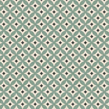 Stof Retro Vibes (4500-465), Green Quilting Fabric, Per 1/4 Metre