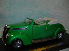 1/18 SCALE 1937 FORD DELUXE CABRIOLET TOP DOWN IN  METALLIC GREEN BY YAT-MING.