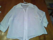 Lovely ROUCHED White MSK Two Piece Set Top and Jacket L