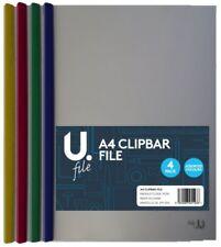 A4 Barra De Clip presentación de diapositivas Binder lado Encuadernado de archivos Carpetas clipbar-Pack 4