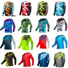 Mens FOX Riding Jersey Long Sleeve T-shirts Motocross/MX/ATV/BMX/MTB Dirt Bike