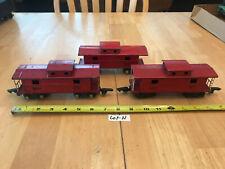 American Flyer Train O Tinplate THREE (3) Red 484 Caboose 2 w/white rails  Lot N