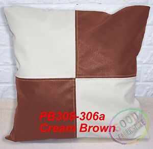 Pb Mixed 2 Color Checker Soft Faux Leather Cushion Cover/Pillow Case Custom Size