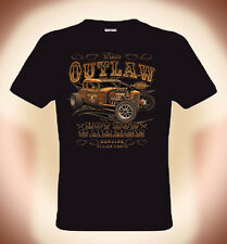 Motor Monstruo,Moto Camiseta T-Shirt,The Fuera de la ley Hot Rod Garaje,S XXXL