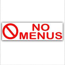 No Menus-Pizza,Kebab,Chips,Chicken Leaflets,Flyers-Letterbox Sticker Door Sign