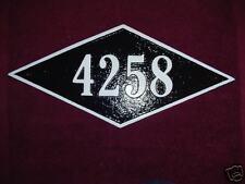 Diamond Shaped Custom Cast Aluminum House Plaque Sign