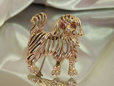 Cute Vintage 1950 Dog Brooch    819a