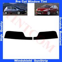 Pre Cut Window Tint Sunstrip for Peugeot 307 5Doors Hatchback 2001-2007 AnyShade