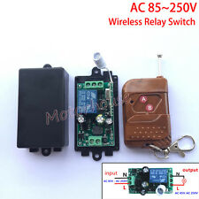 AC110V 220V 230V 10A 1CH Channel Wireless on off Relay RF Remote Control Switch