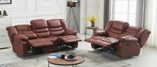 Voll-Leder Couch Sofa Garnitur Relaxsessel Fernsehsessel 5116-3+2-206