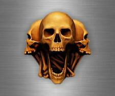 Sticker car motorcycle helmet decal chopper biker skull skeleton r1