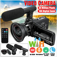 WIFI HD 1080P 30MP 16X Zoom 3'' Digital Camcorder Video DV Camera Mic Angle Len
