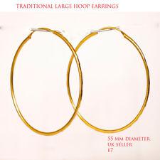 Hoop gold plated Large earrings kapa 18Ct Gold Earrings Asian