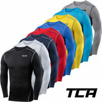 TCA Mens & Boys Pro Performance Base Layer Compression Top Crew Neck-Long Sleeve