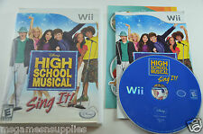 High School Musical: Sing It! - Wii . COMPLETE Game Disc, Manual, Case + Artwork