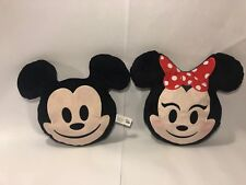 DISNEY EMOJI PILLOWS MINNIE MOUSE and MICKEY MOUSE CHARACTERS