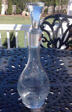 Crystal Wine Glass Etched Tall Ship Boat Made In Poland With Sticker Excellent