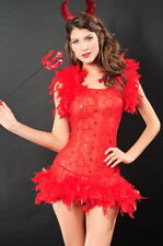 Sexy Womens' Red Devil Halloween Fancy Dress Costume Party