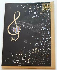Bug Art Music Clef Embossed Greetings Card (Music-Themed)