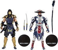 "McFarlane Mortal Kombat Scorpion and Raiden 7"" Action Figure Multipack PREORDER"