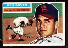 1956 TOPPS #14 KEN BOYER CARDINALS GRAY BACK