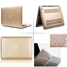 """Gold Rubberized Case Keyboard Cover + Film For Macbook Pro Air Retina 11 13 15"""""""
