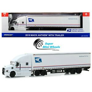 Greenlight 1:64 - 2019 Mack Anthem 18 Wheeler Tractor-Trailer USPS Truck