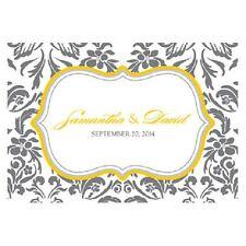 24pk Personalized Love Bird Damask Large Rectangular Tags Wedding Favors