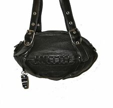 NEW Red24 Black Leather FOOTBALL PURSE Shoulder Bag NFL Saints Raiders Steelers