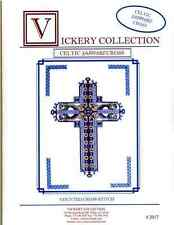 Vickery Collection Celtic Sapphire Cross - Cross Stitch Pattern